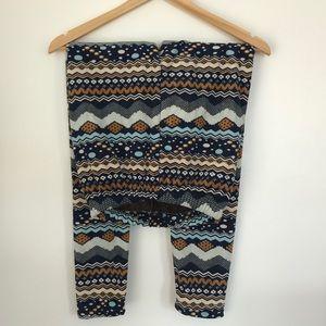 Pants - Fleece Pattern Skinny Leg Pants New